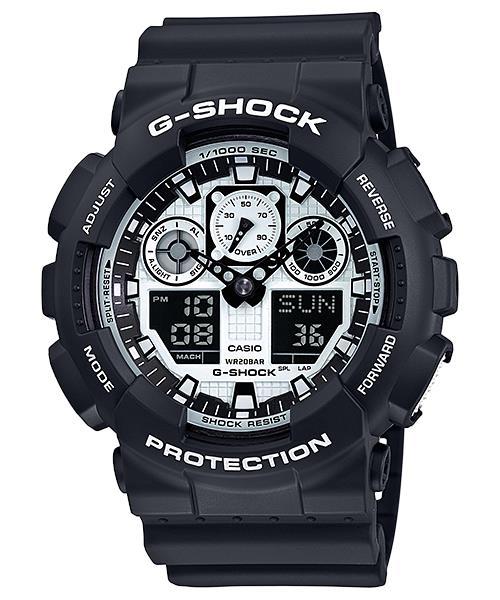 นาฬิกา คาสิโอ Casio G-Shock Special Color Models รุ่น GA-100BW-1A สินค้าใหม่ ของแท้ ราคาถูก พร้อมใบรับประกัน