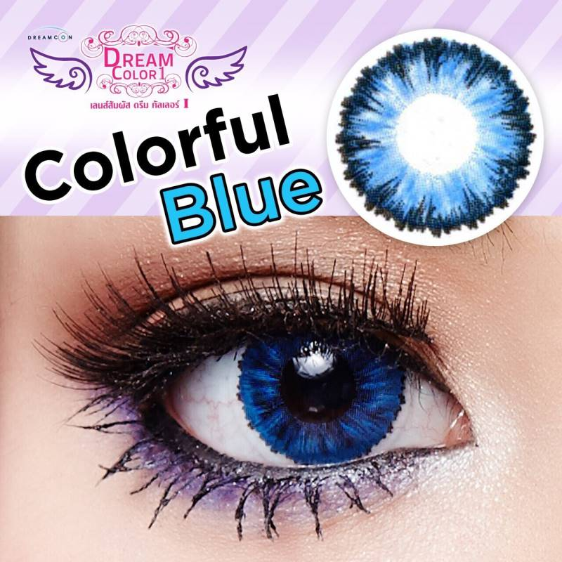 Colorful Blue Dreamcolor1เลนส์นิ่มใส่สบาย คอนแทคเลนส์ ขายส่งคอนแทคเลนส์ ขายส่งBigeye Bigeyeเกาหลี