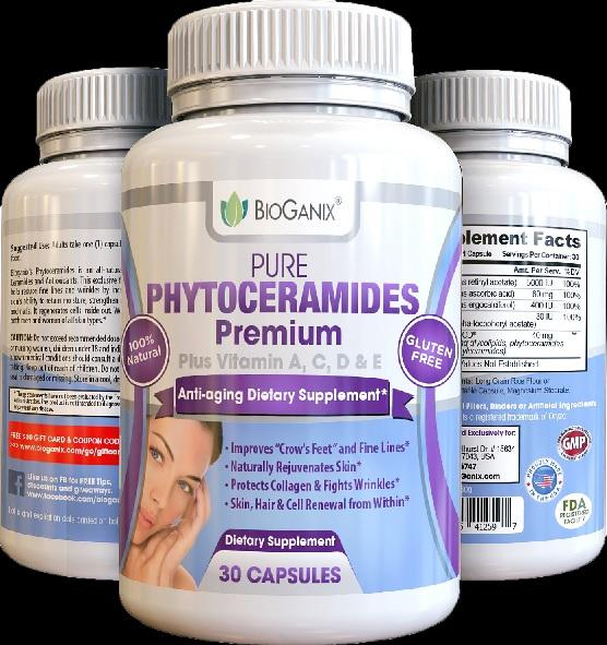 BioGanix Pure Phytoceramides Premium Plus Vitamin A,C,D&E บรรจุ 30 แคปซูล