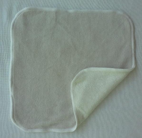ผ้าสารพัดเช็ดออร์แกนิคส์ 23*23ซม. 2หน้า (สีขาวอมเทา)
