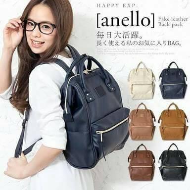 กระเป๋าเป้ Anello polyurethane leather rucksack รุ่น Mini/Classic อีกรุ่นที่กำลังเป็นที่นิยมกันในหมู่วัยรุ่นของประเทศญี่ปุ่นมาแล้วคร้า... ภายในมีช่องเล็ก2ช่อง เปิดปิดด้วยซิปคู่ ปากกระเป๋าเป็นโครงสัดวกต่อการหยิบจับ ด้านข้างมีช่องทั้ง2