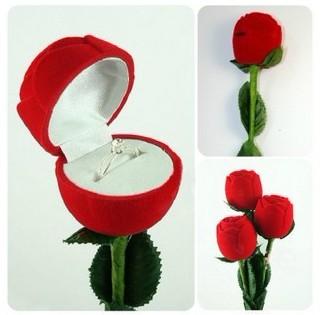 กล่องใส่แหวนดอกกุหลาบ < พร้อมส่ง >