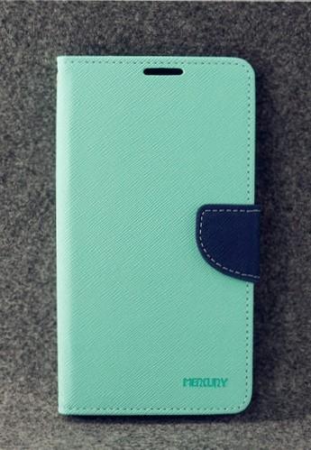 เคส asus zenfone max zc550kl ฝาพับ ฝาปิด MERCURY FANCY DIARY สีเขียว-น้ำเงิน มีที่ล็อคด้านข้าง สีสันสดใส เรียบ สวย เท่ห์