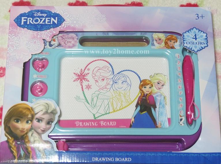 กระดานแม่เหล็กวาดรูปภาพสี (ลาย Frozen)