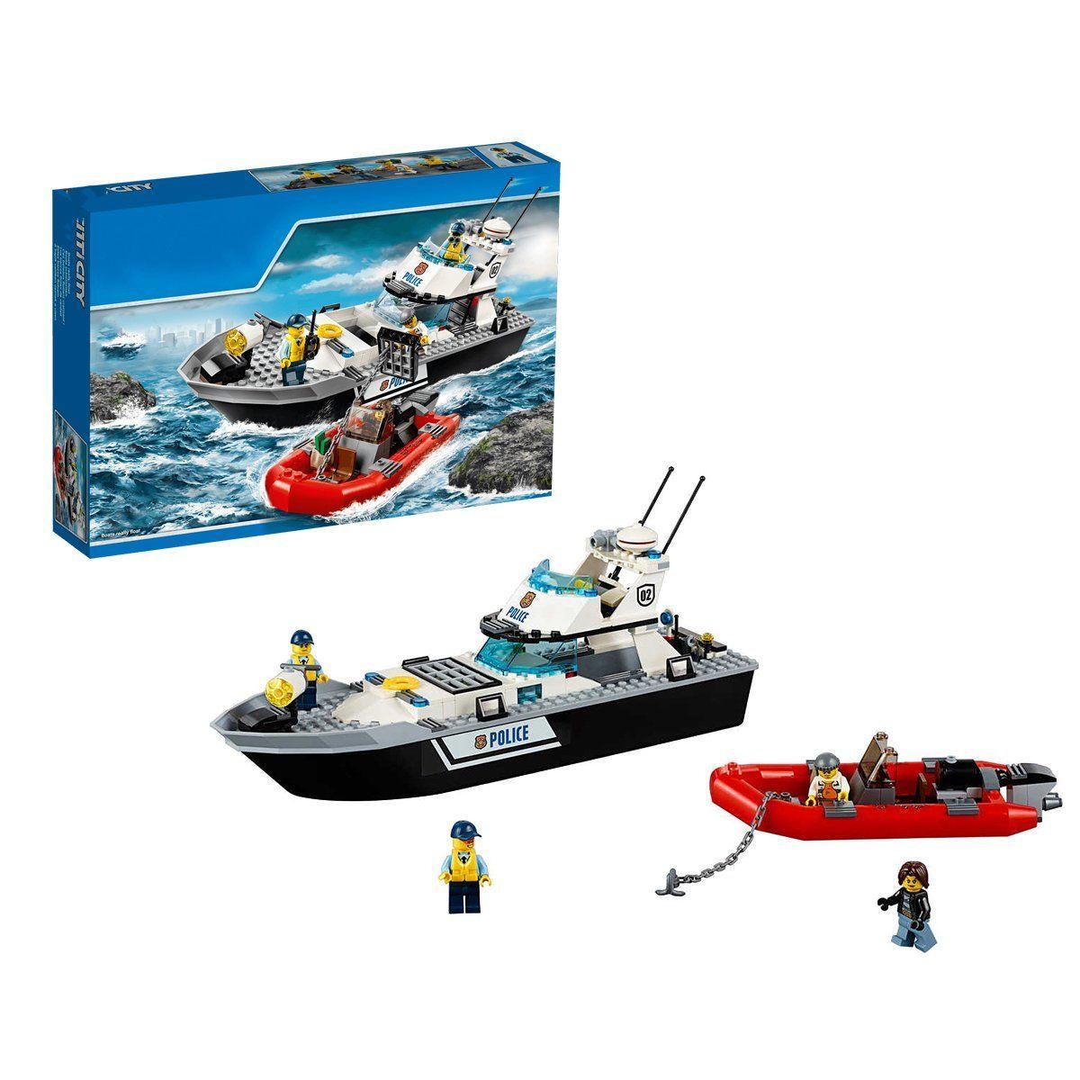เลโก้จีน LEPIN.02049 ชุด City : Police Patrol Boat