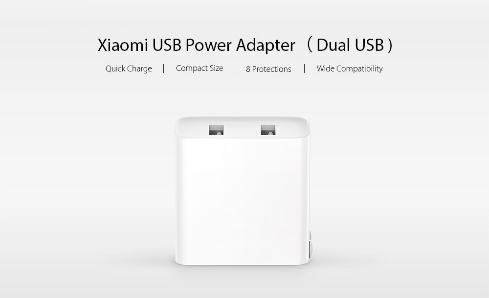 Xiaomi Mi Adapter Quick Charge 3.0 USB Charger 2 ports