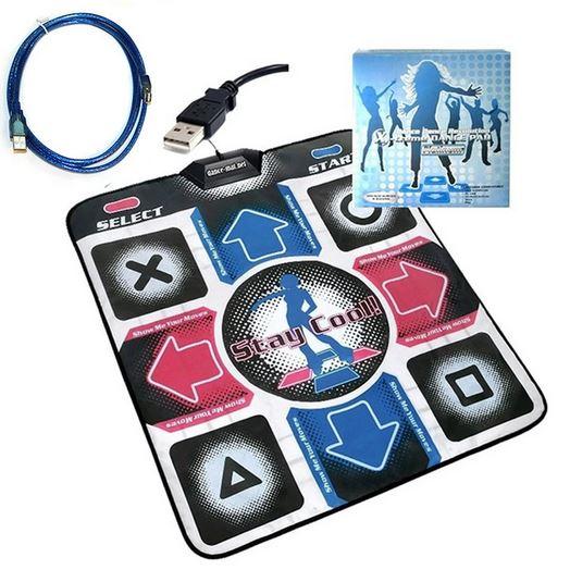 แผ่นเกมส์เต้นต่อ PC/Notebook สำหรับเต้นออกกำลังกาย พร้อมสาย USB 1.8 เมตร
