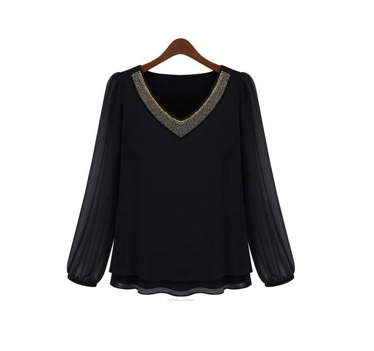 **พรีออเดอร์** เสื้้อเชิ๊ตแฟชั่นเกาหลีใหม่ แขนยาว สำหรับผู้หญิงไซต์ใหญ่ / **Preorder** New Korean Fashion Long-Sleeved for Large Size Woman Shirt