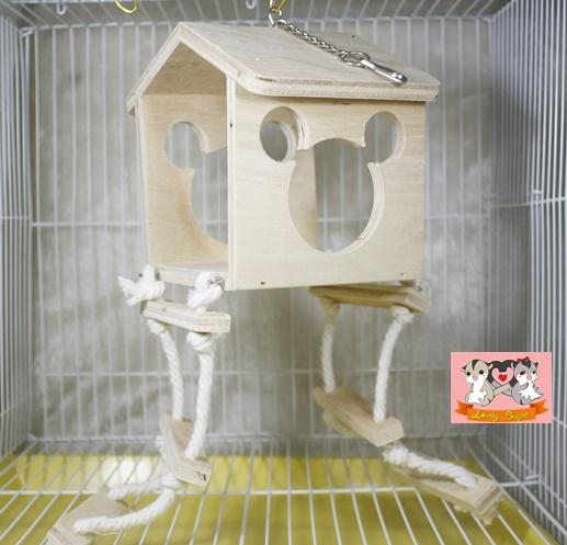 บ้านของเล่นไม้ มีบันได