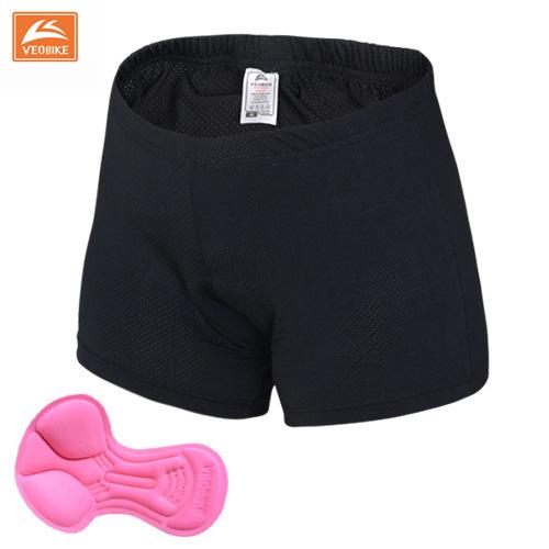 กางเกงจักรยาน Boxer VeoBike กางเกงสีดำ เป้าเจลสีชมพู เป้าสำหรับผู้หญิง สั่งจอง (Pre-order)
