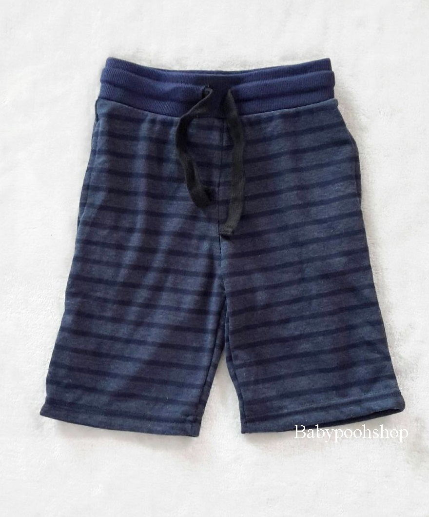 กางเกงขาสั้น สีน้ำเงิน ลายขวาง size : 4-6y / 6-8y / 8-10y