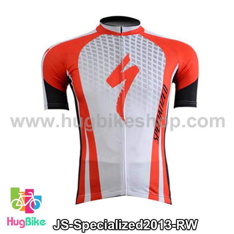เสื้อจักรยานแขนสั้นทีม Specialized 13 สีแดงขาว สั่งจอง (Pre-order)