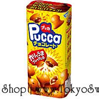 พร้อมส่ง ** Meiji Pucca Chocolate เพรทเซลกรุบกรอบ สอดไส้ช็อคโกแลต 43 กรัม