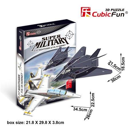 F-117 Nighthawk&F/A-18Hornet