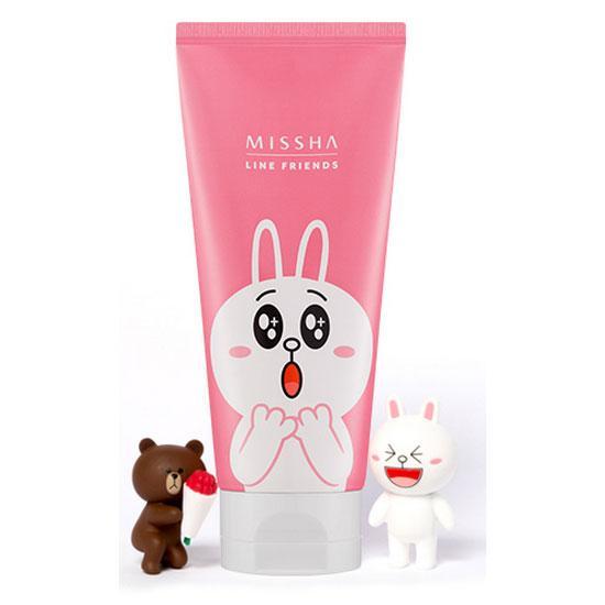++พร้อมส่ง++Missha Flower Bouquet Cleansing Foam 150ml [Line Friends Edition] สูตร Cherry Blossom โฟมเนื้อนุ่ม กลิ่นหอมจากดอกไม้นานาชนิด ช่วยทำความสะอาดผิวอย่างหมดจด ให้ผิวขาว กระจ่างใสขึ้น