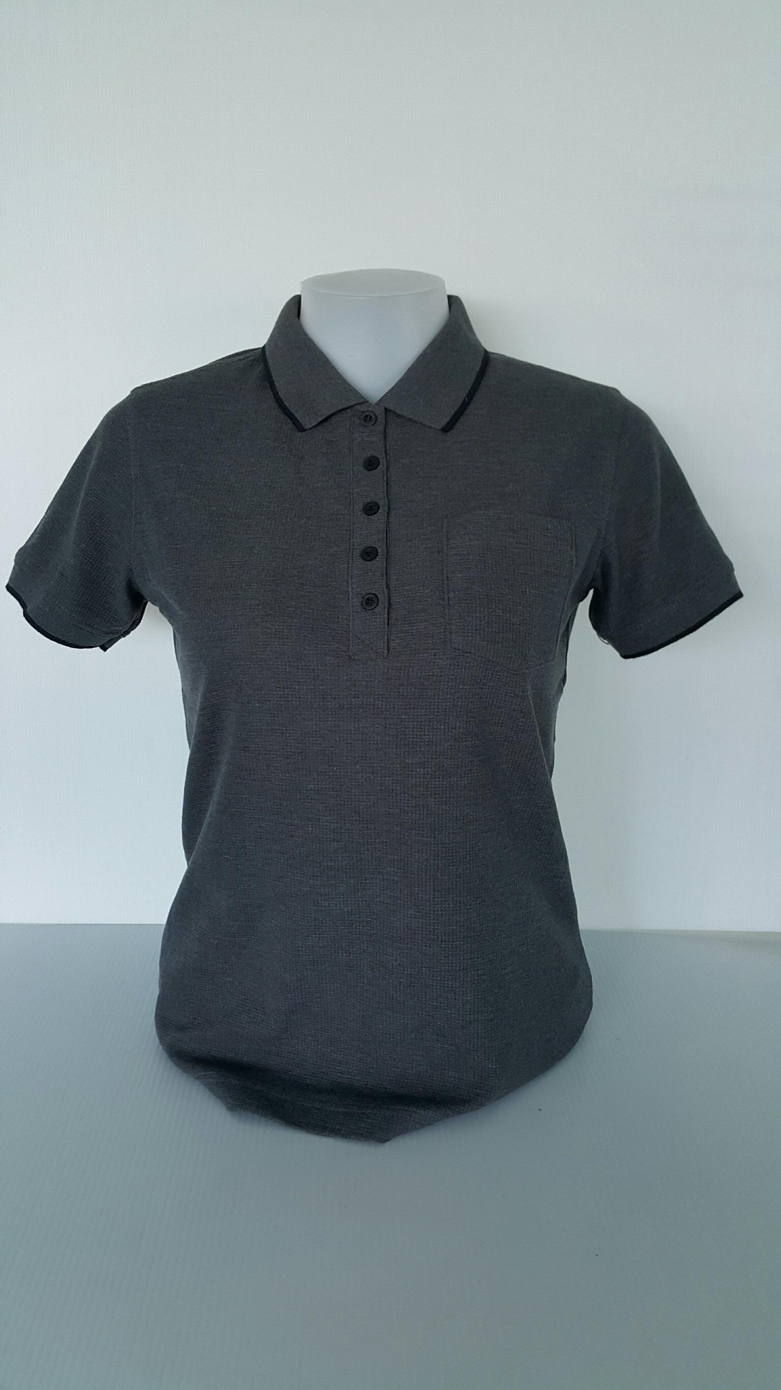 เสื้อโปโลนาโนสีดำ(TD)