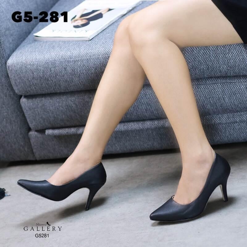 รองเท้าคัทชูหุ้มส้นสไตล์คลาสสิค (สีดำ)