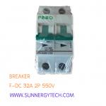 Beaker แบบ MCB_F-DC ขนาด 32A 550V 2P