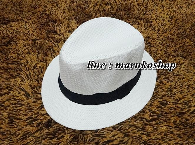 หมวกปานามาปีกกว้าง หมวกสาน หมวกปานามาสีครีมคาดดำ พร้อมส่งค่ะ **รูปถ่ายจากสินค้าจริงที่ขายค่ะ**