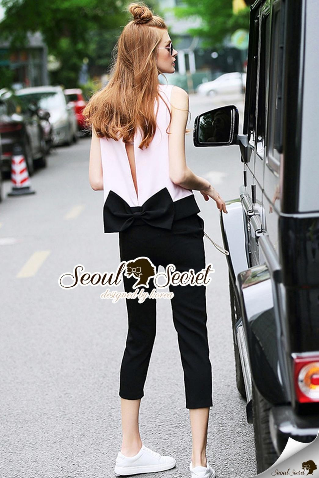Seoul Secret Say's... Bowy Ladiest Back Splitty Set
