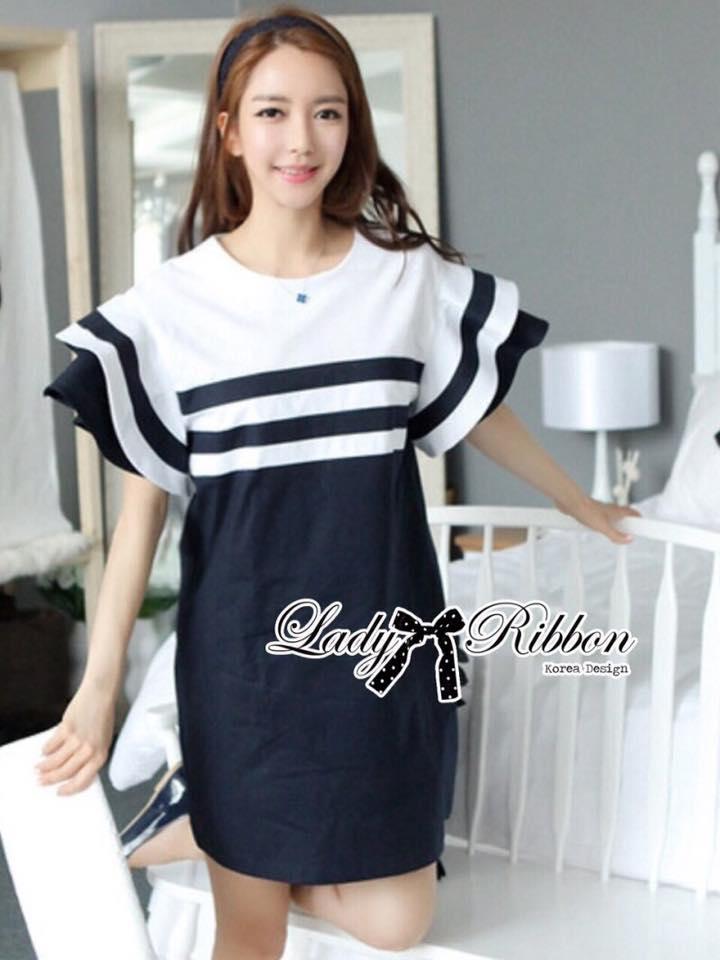 Lady Natasha Striped Dress in Navy Style