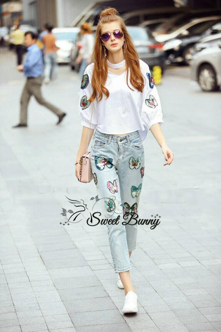 Sweet Bunny Present... Beautiful butterfly Jean set