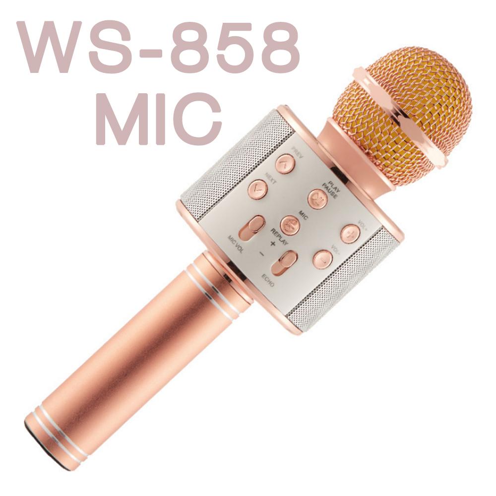 ไมค์คาราโอเกะ ws858 ปุ่มตรงกลาง MIC