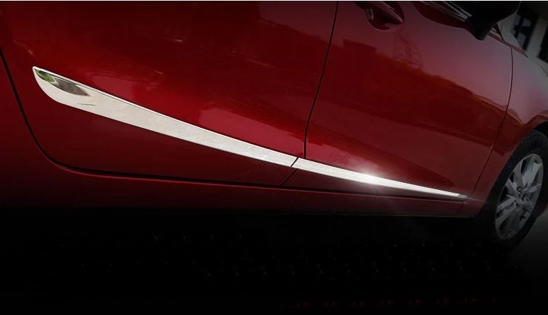 คิ้ว Stainless กันกระแทกข้างประตู Mazda 3