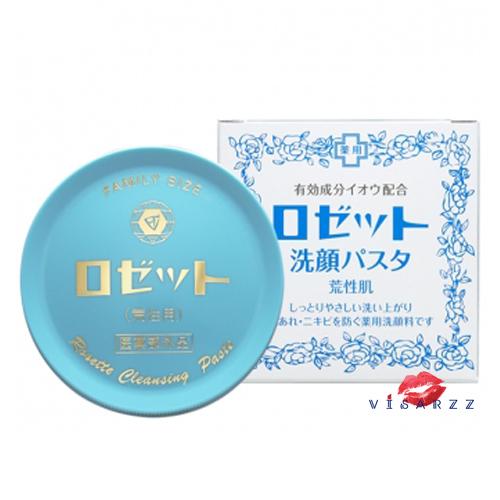(กล่องฟ้า) Rosette Cleansing Paste Dry Skin 90g ผลิตภัณฑ์ทำความสะอาดผิวเนื้อครีมจากประเทศญี่ปุ่น ช่วยช่วยขจัดเซลล์ผิวเสื่อมสภาพที่แห้งกร้านและหมองคล้ำ กระตุ้นกระบวนการสร้างเซลล์ผิวใหม่ให้แข็งแรงและสุขภาพดีกว่าเดิม พร้อมลดการเกิดสิวอันเนื่องมาจากการอุดตันร