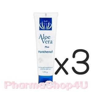 (ซื้อ3 ราคาพิเศษ) Vitara Aloe Vera Plus Panthenol 120g เจลว่านหางจระเข้ผสมแพนธีนอลเข้มข้น 5% ปกป้องผิวจากอาการระคายเคือง ฟื้นบำรุงผิวที่อ่อนแอ เหมาะสำหรับผิวที่มีปัญหาการแพ้บ่อยๆ