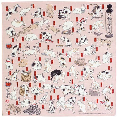 ผ้าห่อเบนโตะ Furoshiki ลายแมวแบบต่างๆ