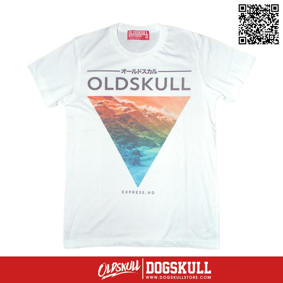 เสื้อยืด OLDSKULL : EXPRESS HD #36   White