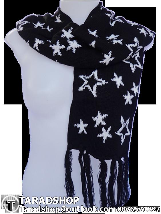 ผ้าพันคอ รับลมหนาว ชาวเหนือ (ขาวผสมดำ)