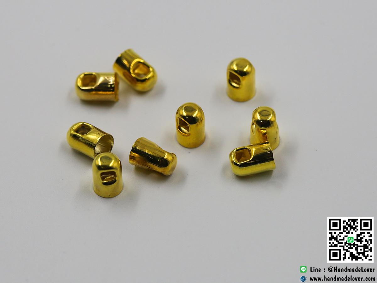ตัวครอบ สีทอง แบบโดม ขนาด 4*6 มม.