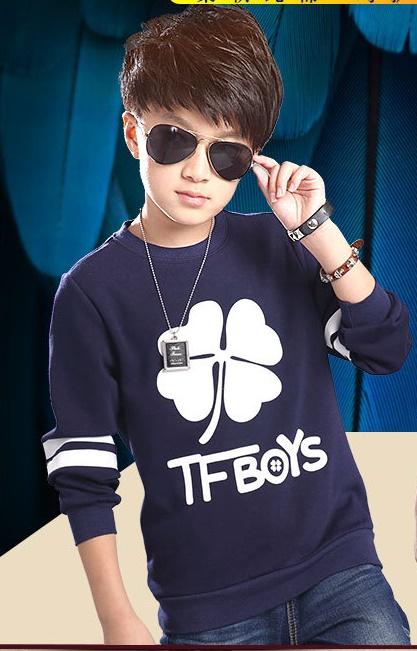 C115-84 เสื้อกันหนาวเด็กชาย สีกรม พิมพ์ลายสวย size เด็กโต ผ้ามีขนนุ่มๆเพิ่มความอบอุ่น สวมใส่สบาย size 130-170 พร้อมส่ง