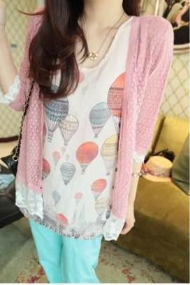 (SALE) เสื้อชีฟอง แฟชั่น ลายบอลลูน