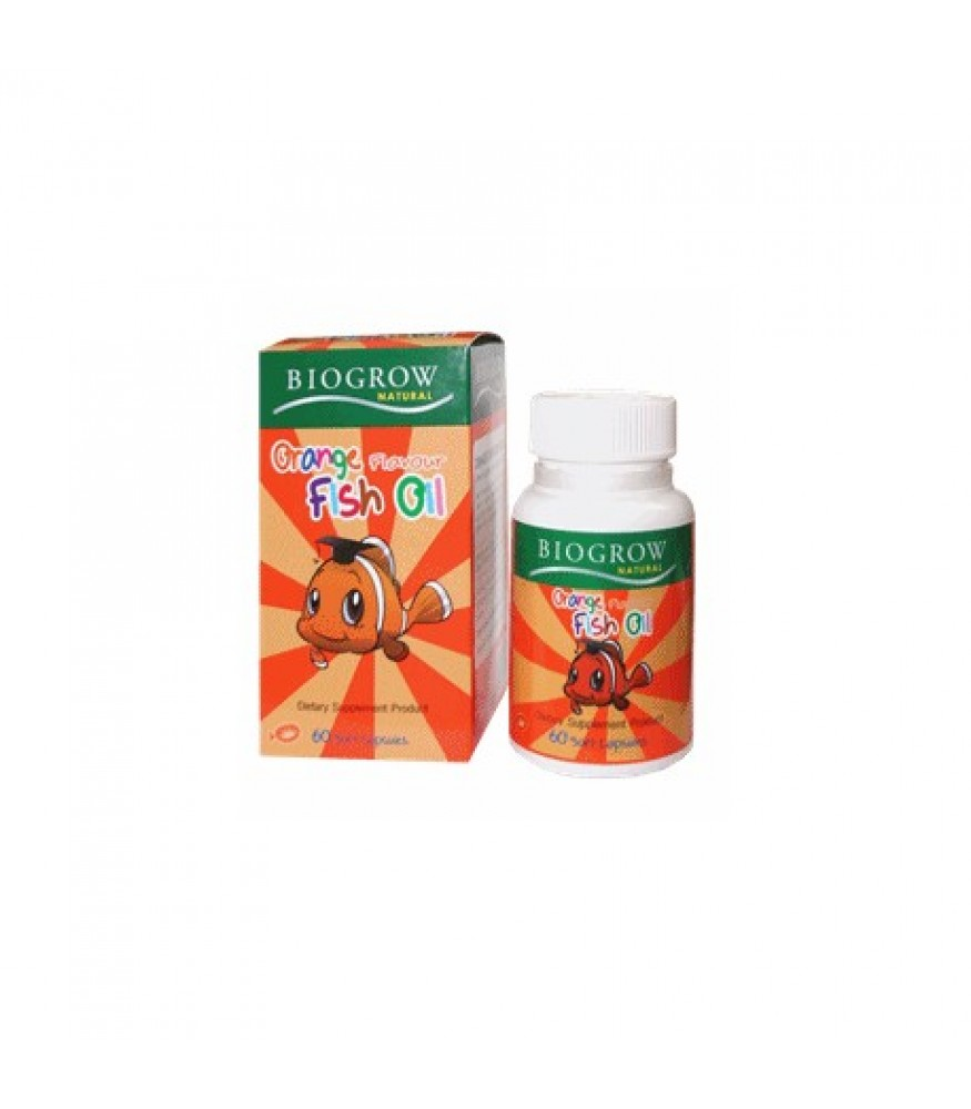 BIOGROW ORANGE FLAVOUR FISH OIL 60เม็ด สำเนา