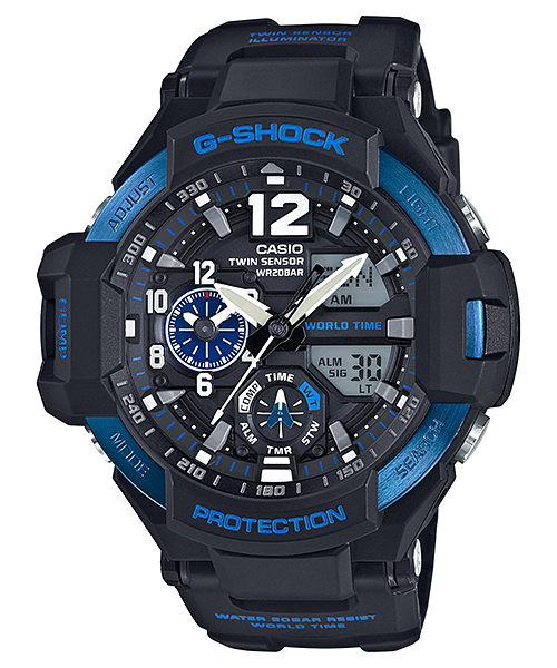 นาฬิกา Casio G-SHOCK นักบิน GRAVITYMASTER รุ่น GA-1100-2B ของแท้ รับประกัน 1 ปี