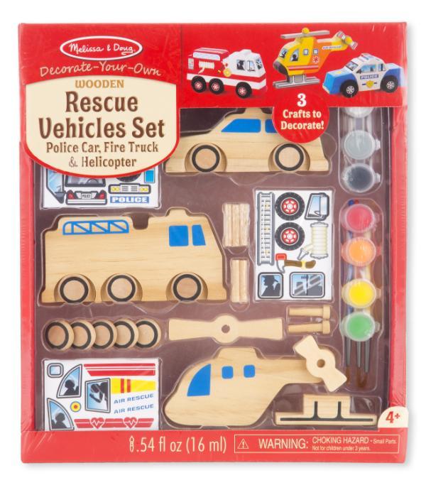 ประดิษฐ์ ยานพาหนะ DIY Set - Rescue Vehicles Set