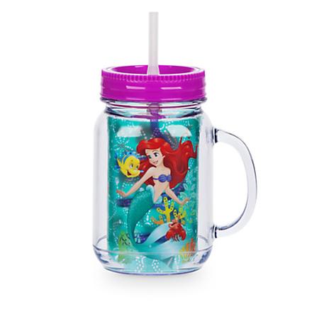 แก้วน้ำ 2 ชั้นพร้อมหลอด Ariel Jelly Jar with Straw [USA]