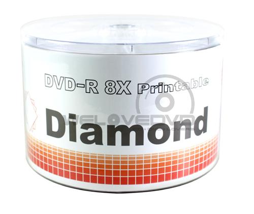 Diamond DVD-R 8X Printable (50 pcs/Plastic Wrap)