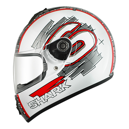 SHARK S600 PINLOCK SWAG White Red Anthracit WRA/HE2406