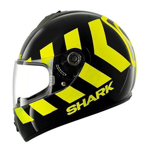 SHARK S600 PINLOCK NO PANIC Black Yellow Black KYK/HE2421