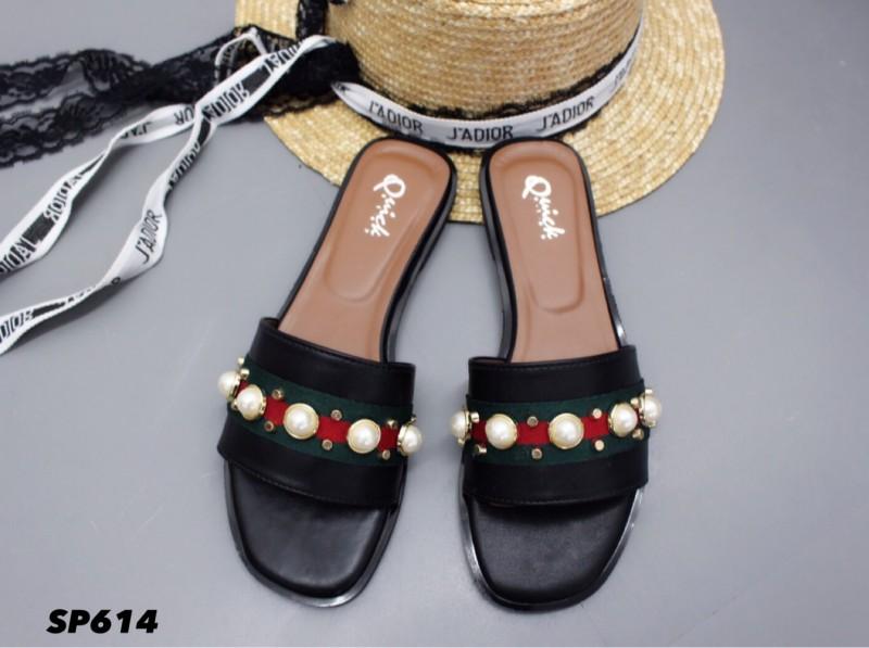 รองเท้าแตะลำลองสีดำ สไตล์แบรนด์ GUCCI (สีดำ )