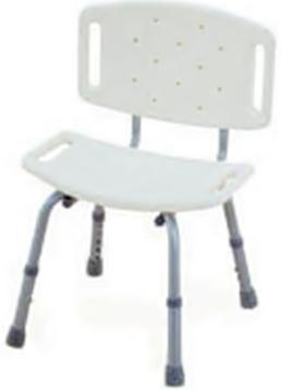 เก้าอี้อาบน้ำ แบบมีพนักพิง ปรับสูงต่ำได้ MEH01