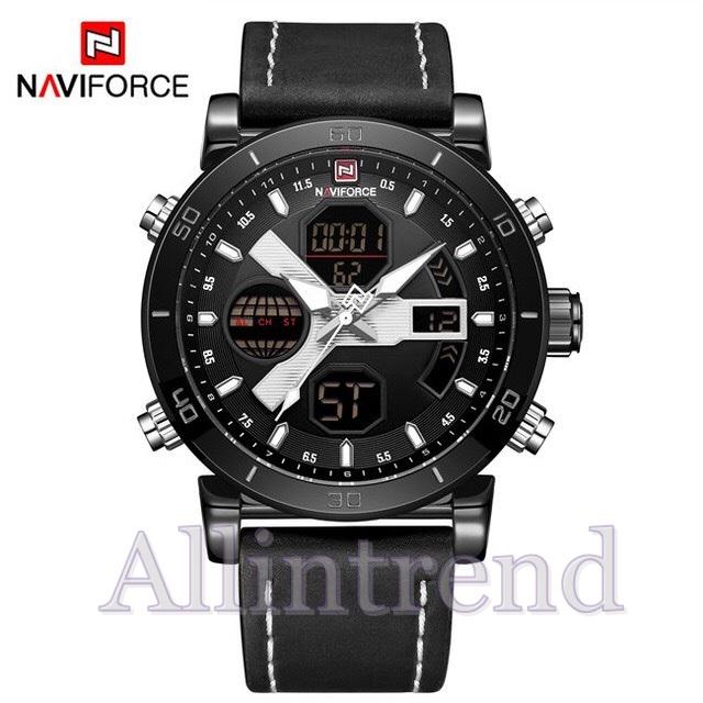 นาฬิกา Naviforce รุ่น NF9132M สีขาว สายสีดำ ของแท้ รับประกันศูนย์ 1 ปี ส่งพร้อมกล่อง และใบรับประกันศูนย์ ราคาถูกที่สุด