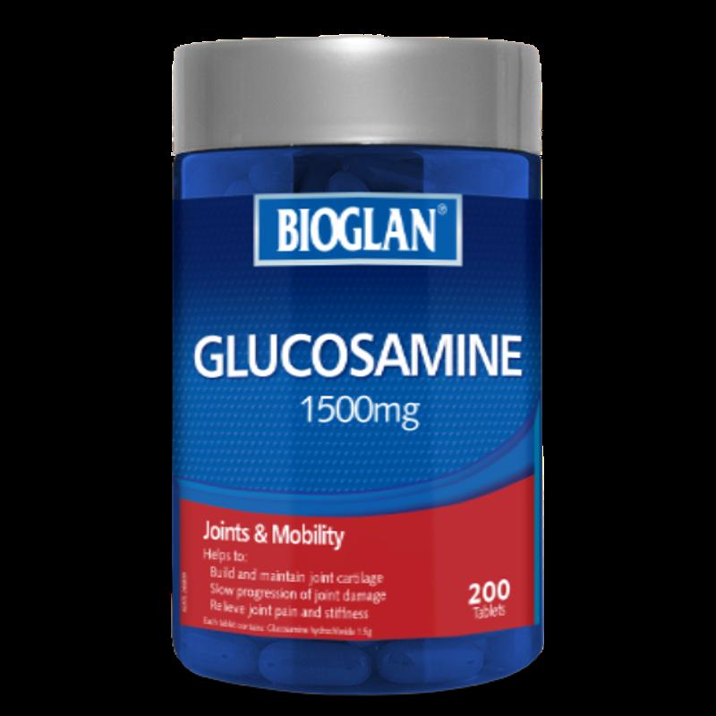 Bioglan Glucosamine 1500 mg กลูโคซามีน บำรุงเข่าไขข้อ ขนาด200 เม็ด