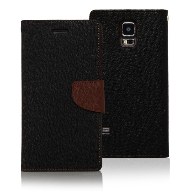 Mercury GOOSPERY FANCY DIARY Case สำหรับ samsung galaxy S5(Black)