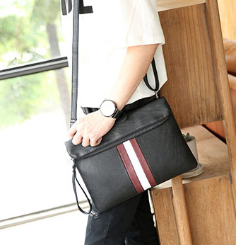 พร้อมส่ง กระเป๋าคลัทซ์ผู้ชาย ใส่โทรศัพท์มือถือ แฟชั่นเกาหลี รหัส Man-8649 สีดำ