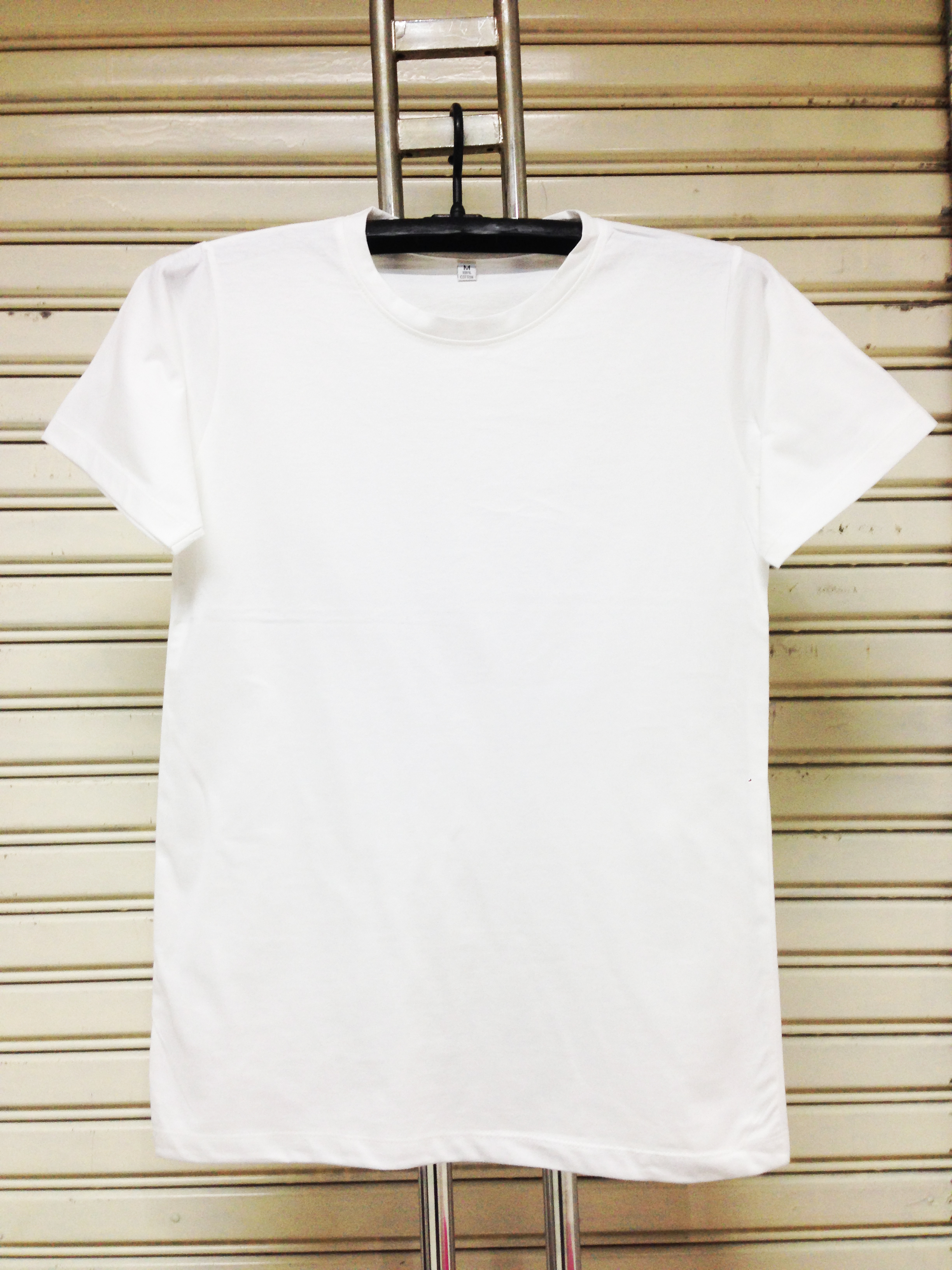 COTTON100% เบอร์32 เสื้อยืดแขนสั้น คอกลม สีขาว